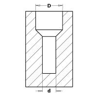 Зенкеры 45° с цилиндрическими хвостовиками