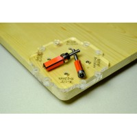 Набор из 12-ти угловых шаблонов для фрезерования с радиусом от 3 до 25 мм