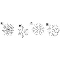 RCS комплект из 4х шаблонов для гравирования розетка