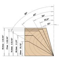 Фреза фасочная регулируемая 0°-90° со сменными ножами. Серия 663.201.11