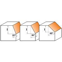 Фрезы обгонные фасочные 22°30°45°