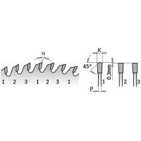 Пилы форматные для двухстороннего ламината с увеличенным ресурсом