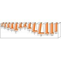 Набор пазовых фрез и фрез ласточкин хвост (13 шт)