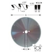 92010 Пильные диски для ПВХ и алюминия WEMARO. Диски с положительным наклоном зубьев.